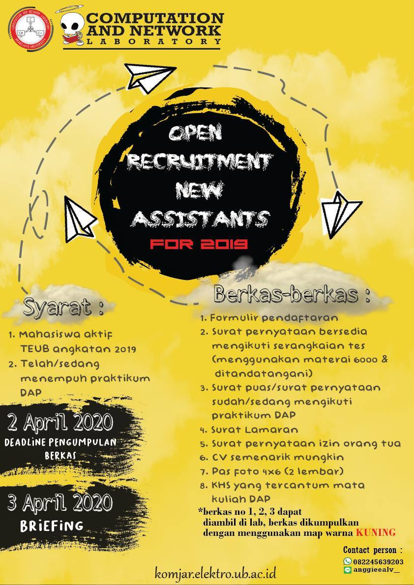 Open Recruitment Asistant 2020
